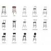 Барные стулья на металлокаркасе